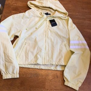 Forever 21 yellow & white jacket brand new Sz S
